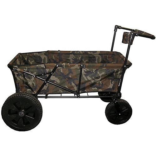 Heavy Duty Maxima Folding Wagon with Oversized Wheels Camo
