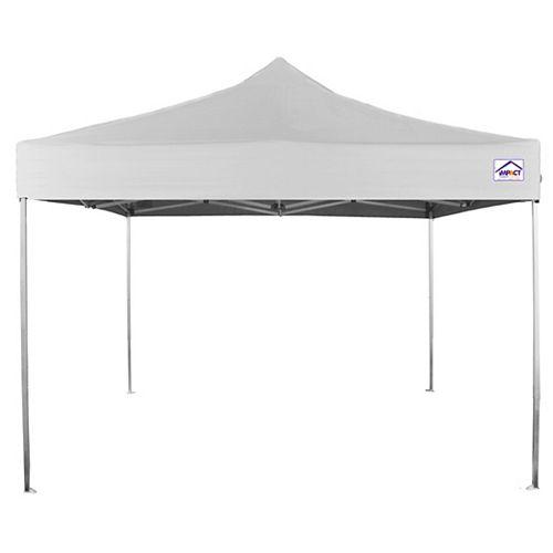 Impact Canopy Canopée instantanée, qualité récréative, aluminium ultra léger, 10 x 10 pi, blanche