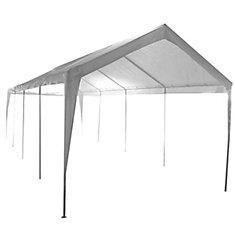 10 ft. x 27 ft. 2-Car 10-Leg Carport or Boat Cover Canopy
