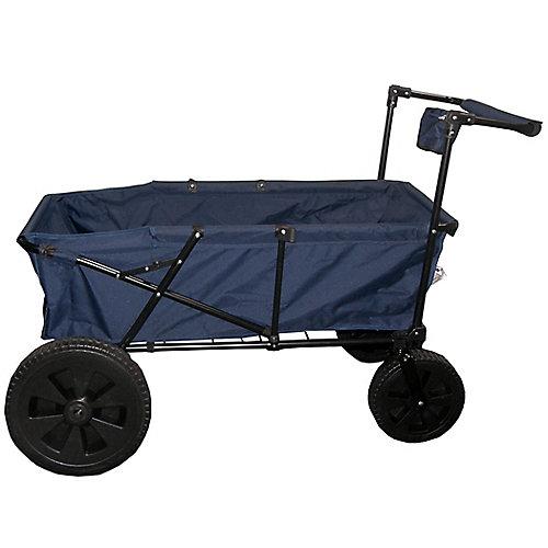 Heavy Duty Maxima Folding Wagon with Oversized Wheels Blue