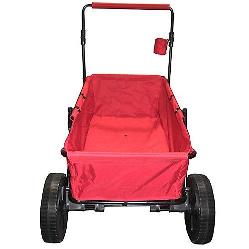 Heavy Duty Maxima Folding Wagon with Oversized Wheels Red
