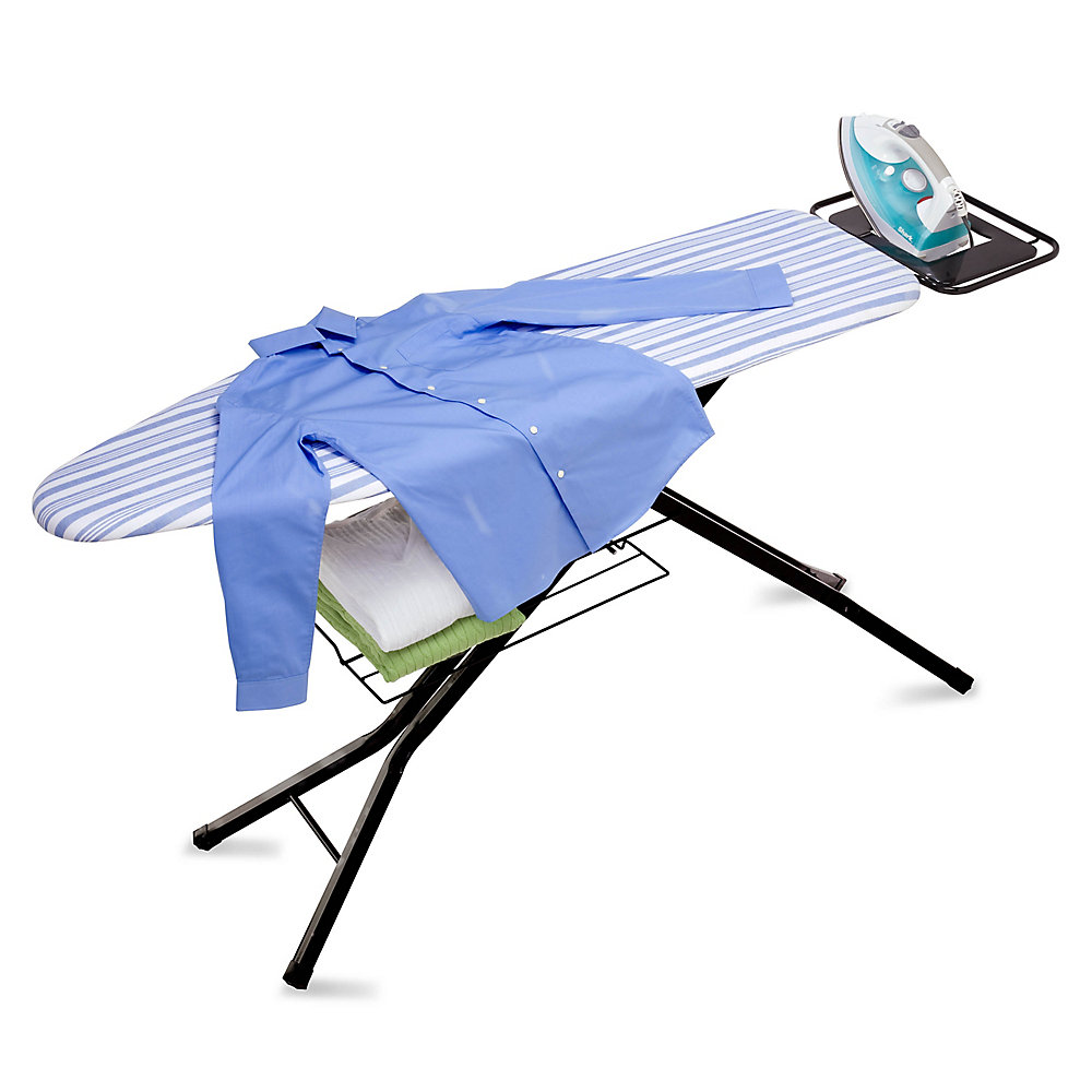 c91224bcd0bc Honey Can Do Adjustable Deluxe Ironing Board with Iron Rest   The ...