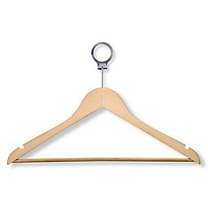 24-Pack Maple Hotel Suit Hangers