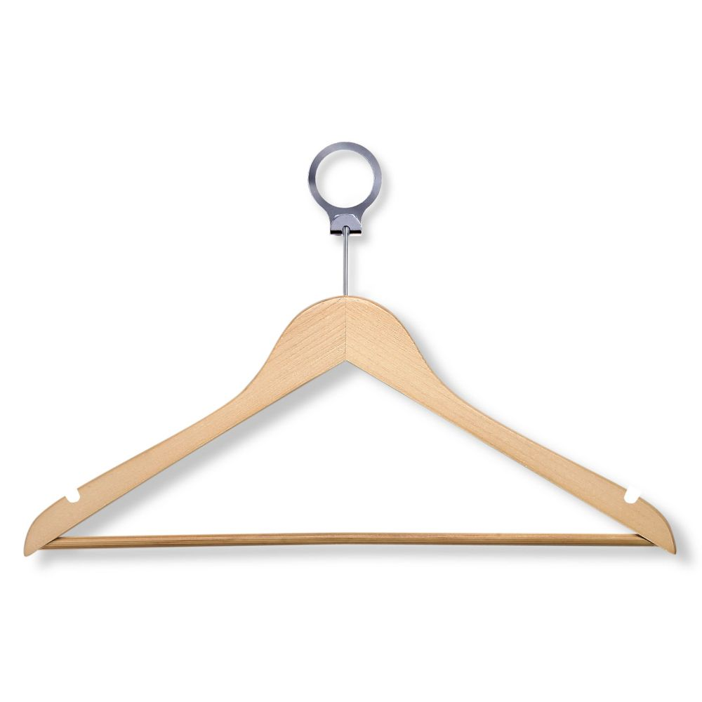 Honey Can Do 24-Pack Maple Hotel Suit Hangers