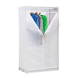 Honey Can Do 63-inch H x 36-inch W x 20-inch D Portable Closet in White