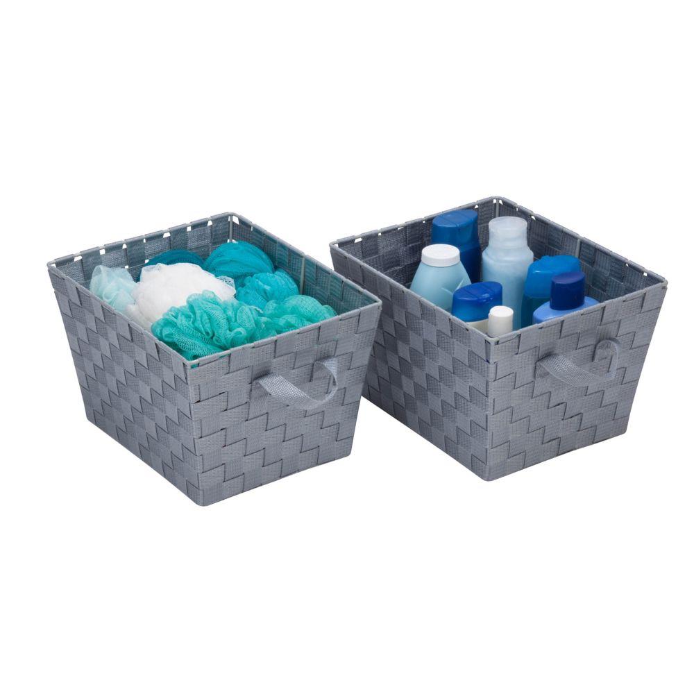 The Showroom Series Wiretone Double Shelf Corner Utility Basket in ...