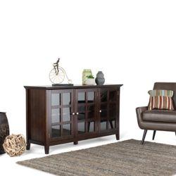 Simpli Home Acadian Wide Storage Cabinet