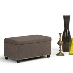 Simpli Home Amelia Storage Ottoman Bench