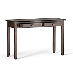 Artisan Console Sofa Table in Brown