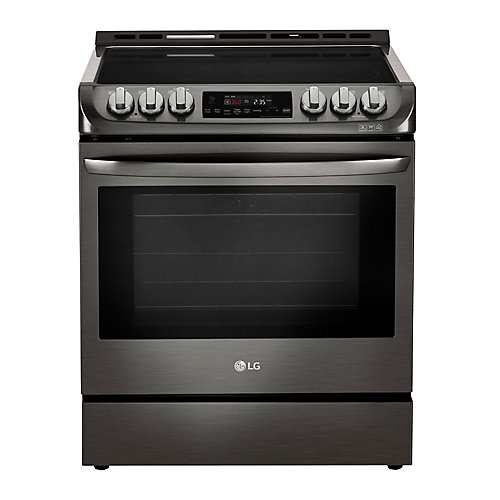 6.3 cu. ft. Electric Slide-In Range with ProBake Convection and EasyClean in Black Stainless Steel