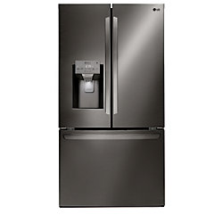 36-inch 28 cu. ft. French Door Refrigerator with Slim SpacePlus Ice System in Black Stainless Steel - ENERGY STAR®