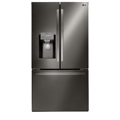 LG Electronics 36-inch W 28 cu. ft. French Door Refrigerator in Smudge Resistant Black Stainless Steel - ENERGY STAR®