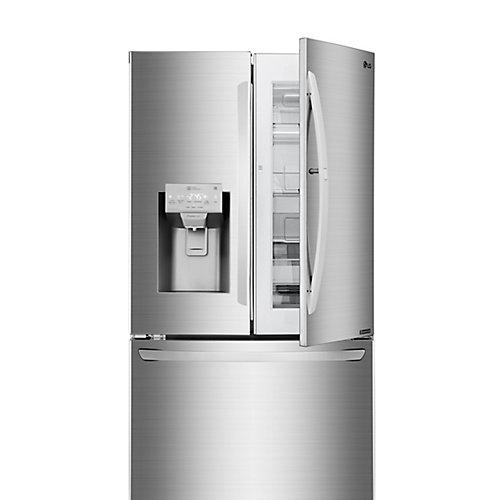 Réfrigérateur à porte française 3 portes avec porte dans la porte en acier inoxydable de 36 po W 28 pi3 - ENERGY STAR®