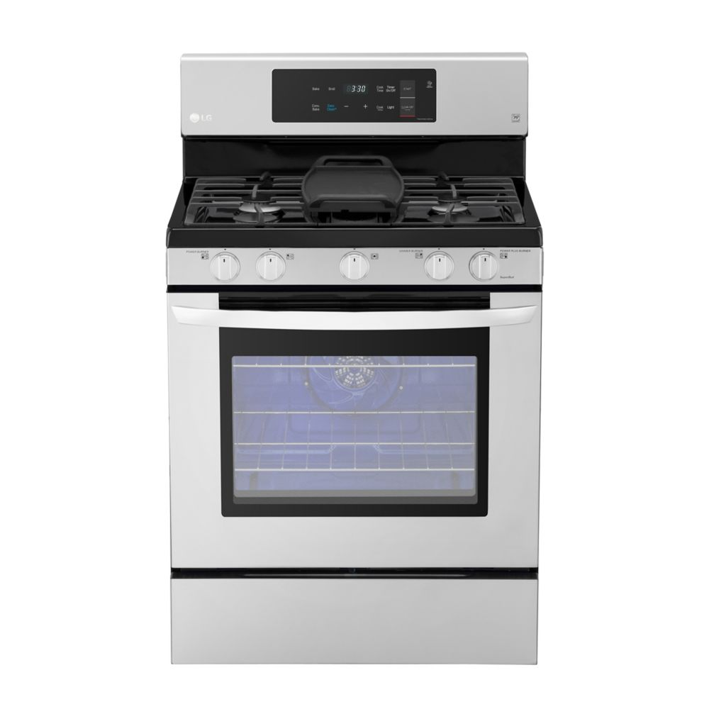 LG Electronics 5.4 cu. ft. Gas Range Single Oven with EasyClean and True Convection in Stainless Steel