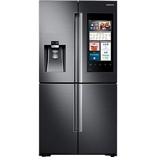 Réfrigérateur intelligent de 36 po à porte française de 22 pi³ avec noyau familial en acier inoxydable noir - ENERGY STAR®