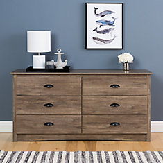 Salt Spring 6-Drawer Dresser in Drifted Gray