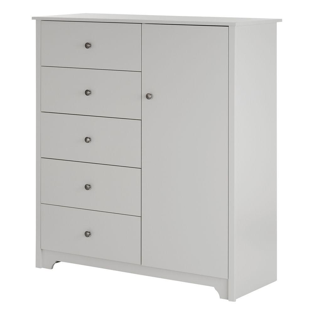south shore commode porte 5 tiroirs vito gris clair home depot canada. Black Bedroom Furniture Sets. Home Design Ideas