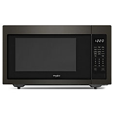 1.6 cu. ft. 21.75-inch Countertop Microwave in Black Stainless Steel