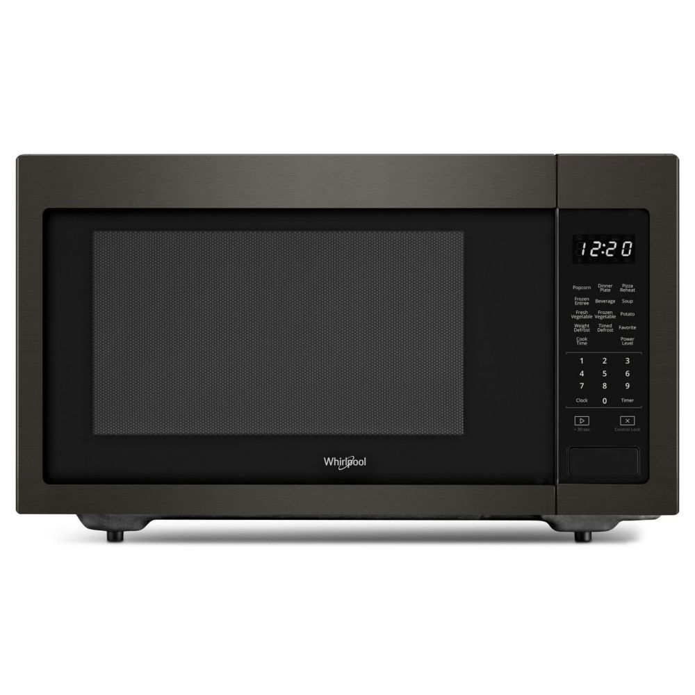 Whirlpool 1.6 cu. ft. 21.75-inch Countertop Microwave in Black Stainless Steel