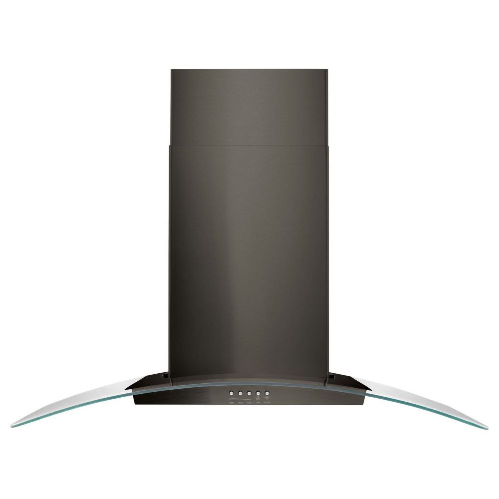 Black Chimney Style Range Hoods ~ Vissani inch chimney style range hood in stainless