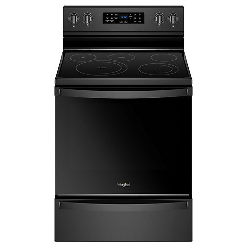 6.4 cu. ft. Electric Range with Self-Cleaning Fan Convection Oven in Black
