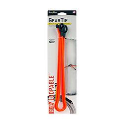 Nite Ize Lien torsadé bouclable de 24po Gear Tie  Paquet de 2  Orange vif