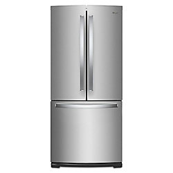 30-inch W 20 cu.ft. French Door Refrigerator in Fingerprint Resistant Stainless Steel