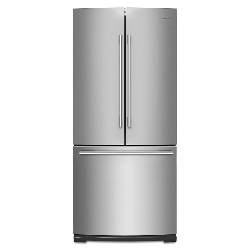 Whirlpool 30-inch W 19.7 cu. ft. French Door Refrigerator in Stainless Steel