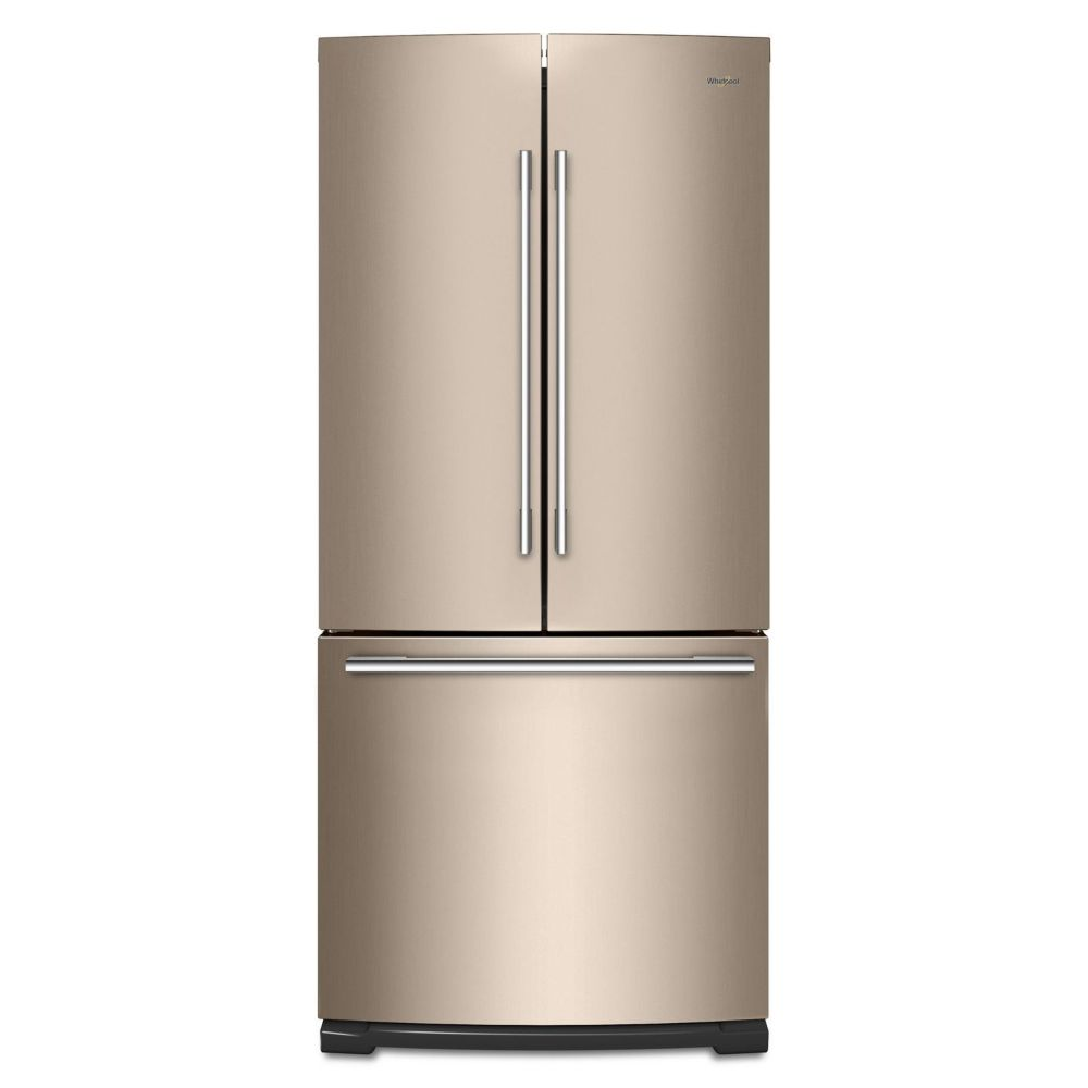 Whirlpool 30-inch W 19.7 cu. ft. French Door Refrigerator in Sunset Bronze - ENERGY STAR®