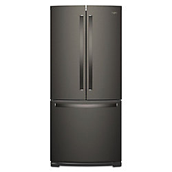 Whirlpool 30-inch W 19.7 cu. ft. French Door Refrigerator in Fingerprint Resistant Black Stainless Steel - ENERGY STAR®