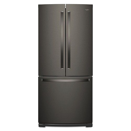 Whirlpool 30-inch W 19.7 cu. ft. French Door Refrigerator in Fingerprint Resistant Black Stainless Steel - ENERGY STAR®