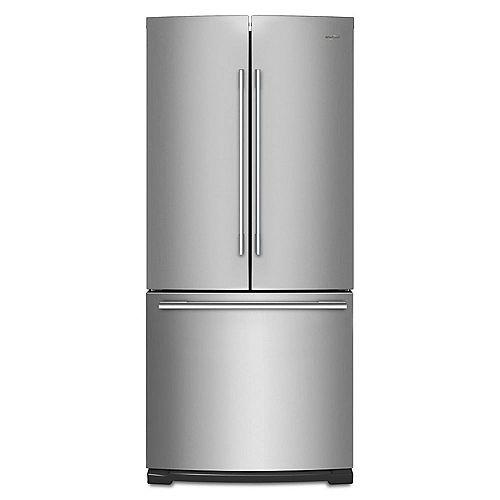 Whirlpool 30-inch W 19.7 cu. ft. French Door Refrigerator in Fingerprint Resistant Stainless Steel
