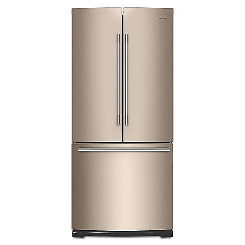 30-inch W 19.7 cu. ft. French Door Refrigerator in Sunset Bronze