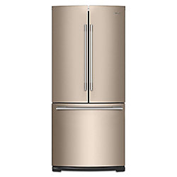 30-inch W 19.7 cu. ft. French Door Refrigerator in Fingerprint Resistant Sunset Bronze