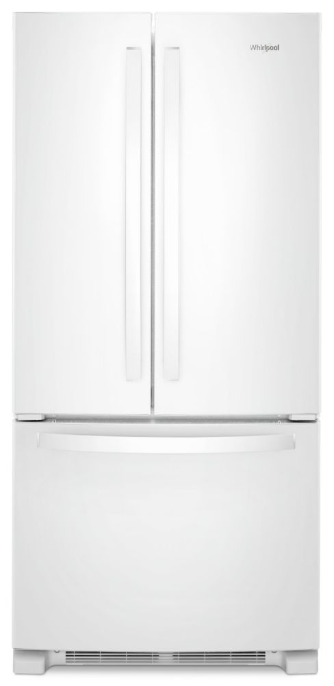 Whirlpool 33-inch W 22.1 cu. ft. French Door Refrigerator with LED Lighting in White - ENERGY STAR®