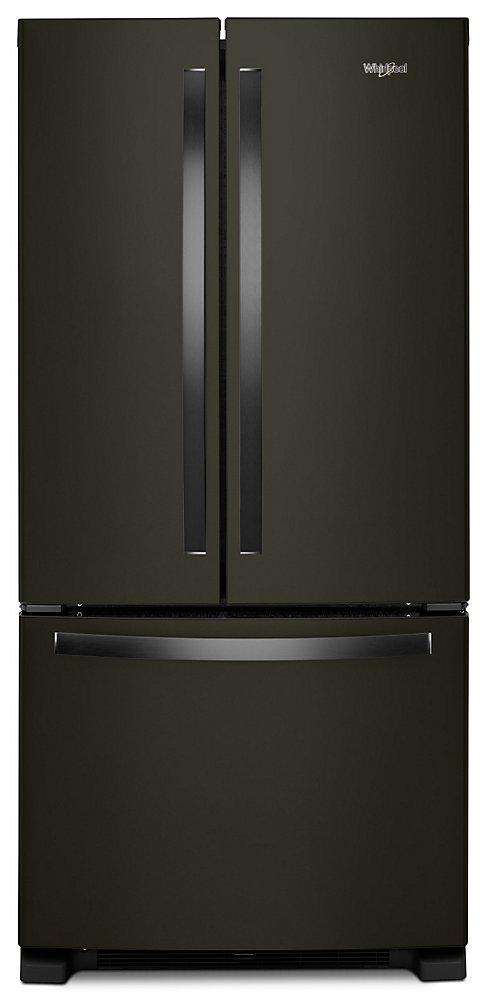 33-inch W 22 cu. ft. French Door Refrigerator in Fingerprint Resistant Black Stainless Steel - ENERGY STAR®