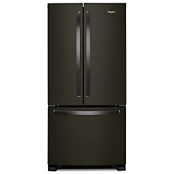 33-inch W 22 cu. ft. French Door Refrigerator in Fingerprint Resistant Black Stainless Steel - ENERGY STAR®