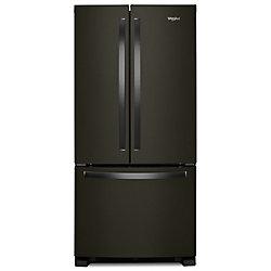 Whirlpool 33-inch W 22 cu. ft. French Door Refrigerator in Fingerprint Resistant Black Stainless Steel - ENERGY STAR®