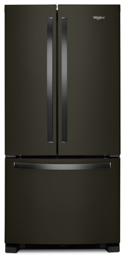 Whirlpool 33-inch W 22.1 cu. ft. French Door Refrigerator with LED Lighting in Black Stainless Steel - ENERGY STAR®
