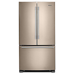 33-inch W 22 cu. ft. French Door Refrigerator in Fingerprint Resistant Sunset Bronze - ENERGY STAR®