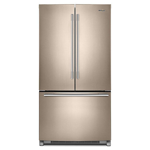 36-inch W 25 cu .ft. French Door Refrigerator with Crisper Drawer in Sunset Bronze - ENERGY STAR®
