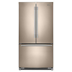 36-inch W 25 cu .ft. French Door Refrigerator with Fingerprint Resistant Sunset Bronze - ENERGY STAR®