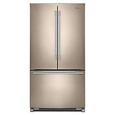 36-inch W 25 cu .ft. French Door Refrigerator with Crisper Drawer in Sunset Bronze