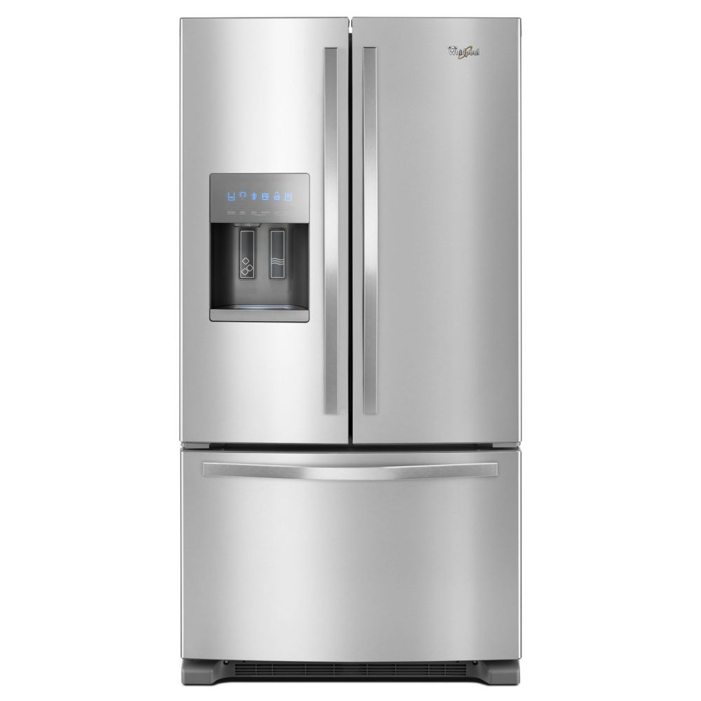 Whirlpool 36 Inch W 25 Cu Ft French Door Refrigerator In