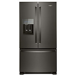 36-inch W 25 cu. ft. French Door Refrigerator in Fingerprint Resistant Black Stainless Steel - ENERGY STAR®