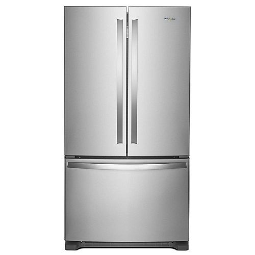 Whirlpool 36-inch W 20 cu. ft. French Door Refrigerator in Fingerprint Resistant Stainless Steel, Counter Depth - ENERGY STAR®