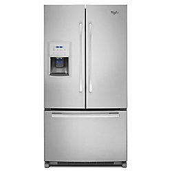 Whirlpool 36-inch W 20 cu. ft. French Door Refrigerator in Fingerprint Resistant Stainless Steel, Counter Depth