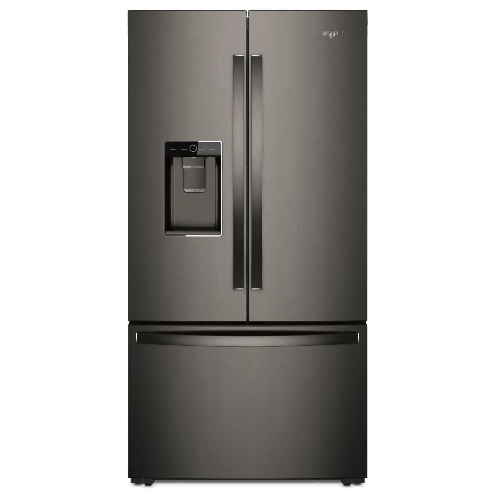 Whirlpool 36-inch W 24 cu. ft. Counter Depth French Door Refrigerator in Black Stainless Steel - ENERGY STAR®
