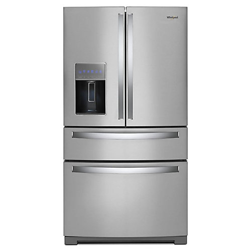 Réfrigérateur 4 portes de 36 po W 26 pi3 en acier inoxydable résistant aux empreintes digitales