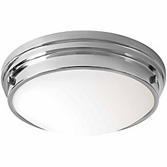 13 inch. LED Flush Mount with Glass, Chrome Finish - ENERGY STAR ®